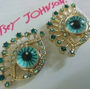 Evil eye Betsey Johnson earrings